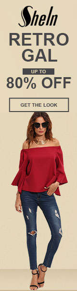 Be a Retro Gal!  Items up to 80% off at SheIn.com! Ends 10/3