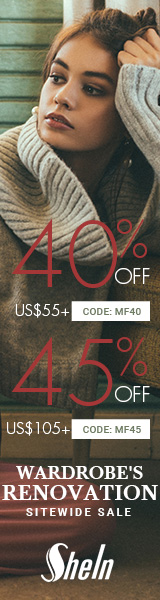 Enjoy 45% off orders $105+ with Coupon Code MF45 at SheIn.com! Ends 11/14