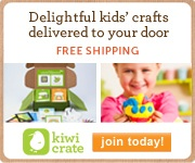 Delightful kids' crafts delivered right to your door.  Free Shipping!  <Visit Kiwi Crate!>