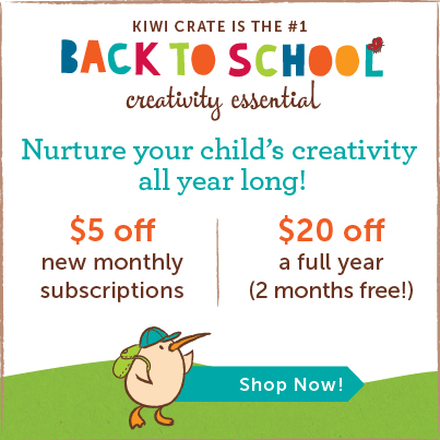 Back to School Kiwi Crate Savings - $5 off monthly, $20 off annual