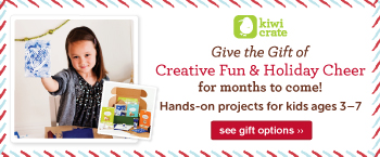 Creative Holiday Gifts for kids ages 3-7. Shop Kiwi Crate! ››