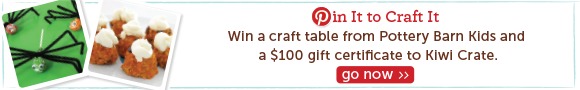 Pin Studio Crafts to Win Pottery Barn Kids Craft Table & $100 from Kiwi Crate