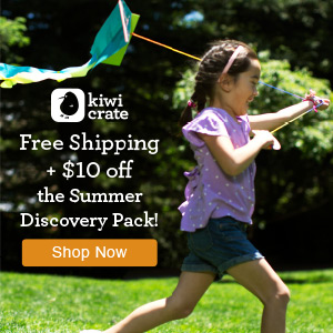 Get $10 off + Free Shipping on Kiwi Crate's Summer Discovery Pack!