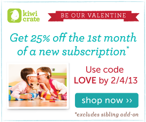 Kiwi Crate Valentine's Day Sale - use promo code LOVE ››