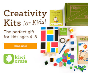 Delightful kids' crafts delivered right to your door.  Visit Kiwi Crate!