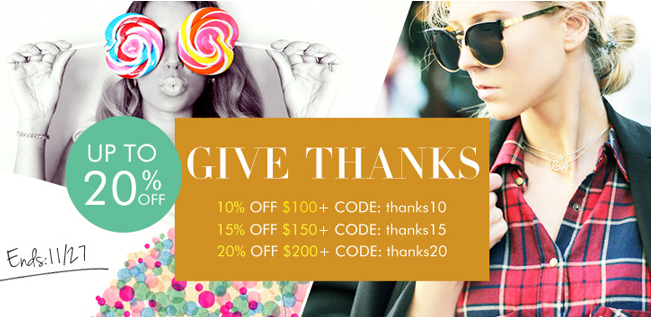 PersunMall Promo Codes For Thanksgiving Day