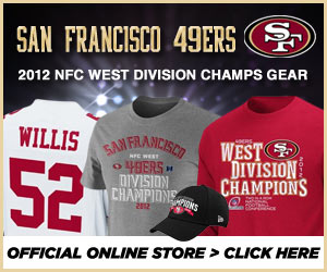 Shop for 2012 NFC West Division Champ gear at the official online store of the San Francisco 49ers!