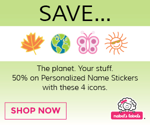 Get 50% Off Personalized Name Sticker with Shamrock Icon