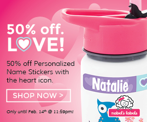 Get 50% off for Valentine's Day at Mabel's Labels
