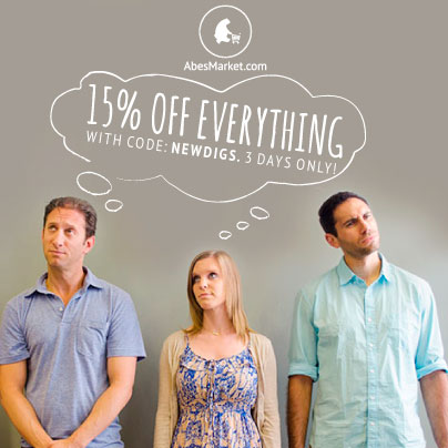 15% Off Everything at Abe's Market with code NEWDIGS