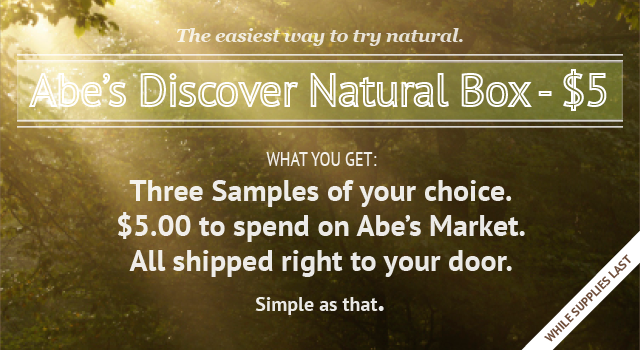 Three Samples of your choice for $5 Plus a $5 Gift Card Included at Abe's Market