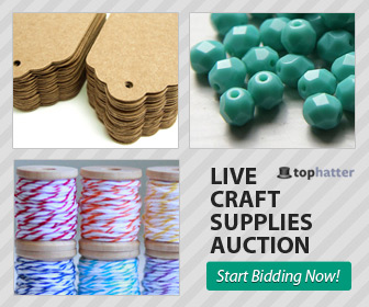 Tophatter Craft Supplies Auction