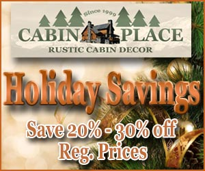 Holiday Savings From Cabin Place