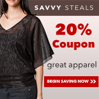 Savvy Steals Coupon Code savvysteals20