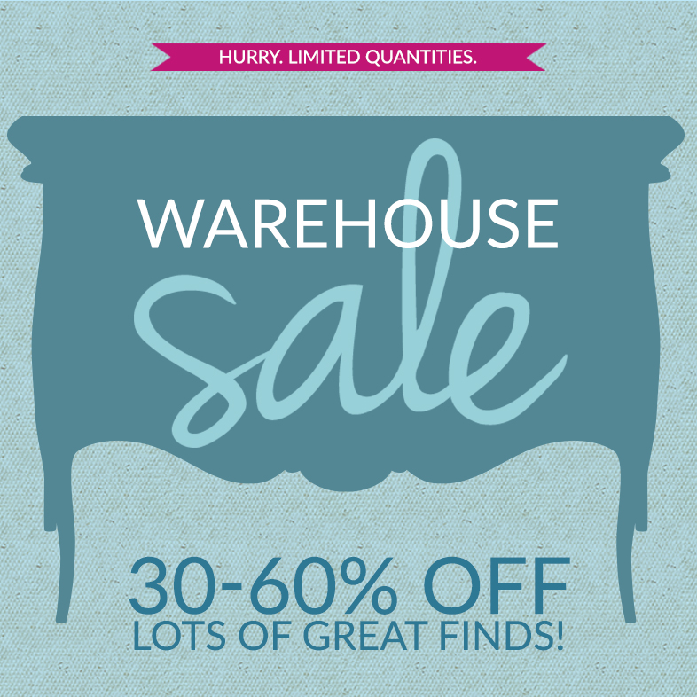 Warehouse Sale. Hurry. Limited Quantities