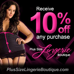 10% Off at Plus Size Lingerie Boutique