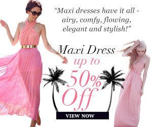 Maxi Dress Up to 50% Off, Show you elegance