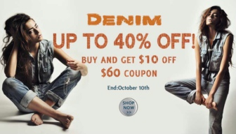 BUY AND GET $10 off $60 COUPON. End: October 10th
