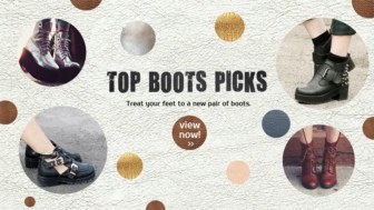 Treat your feet to a new pair of boots.