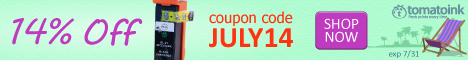Let the summer sizzle with this 14% off coupon code from TomatoInk