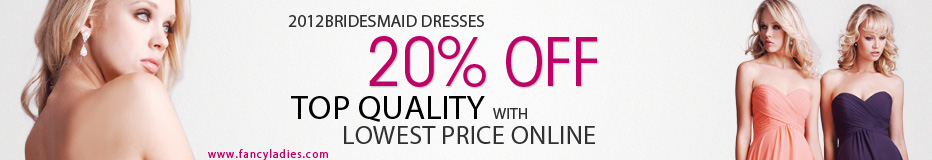 20% off all bridesmaid dresses,extend to 31th,August