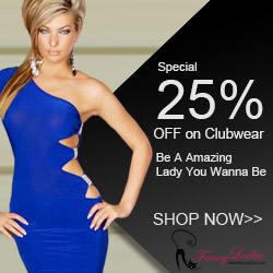 Promo, 25% OFF ALL Clubwear Dresses, Ends 31th, Oct