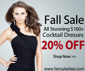 Fall sale!All stunning $100+ cocktail dresses 20% off.