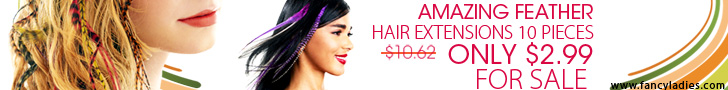 Amazing Feather Hair Extensions 10 piece only $2.99(orignal $10.62) ,extend to  31th,August