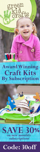 Save 30% on a new subscription to Green Kid Crafts' award winning craft kit program!