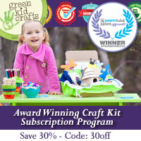 Save 30% on a new subscription to Green Kid Crafts