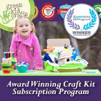 Green Kid Crafts' Award Winning Craft Kit Subscriptions
