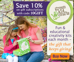 Save 10% on Gift Subscriptions to Green Kid Crafts