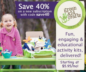 Save 40% on fun and educational activities from Green Kid Crafts