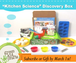 Join Green Kid Crafts to get March's amazing Kitchen Science Discovery Box!