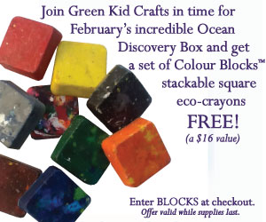 Subscribe to Green Kid Crafts and get a set of Colour Blocks free!