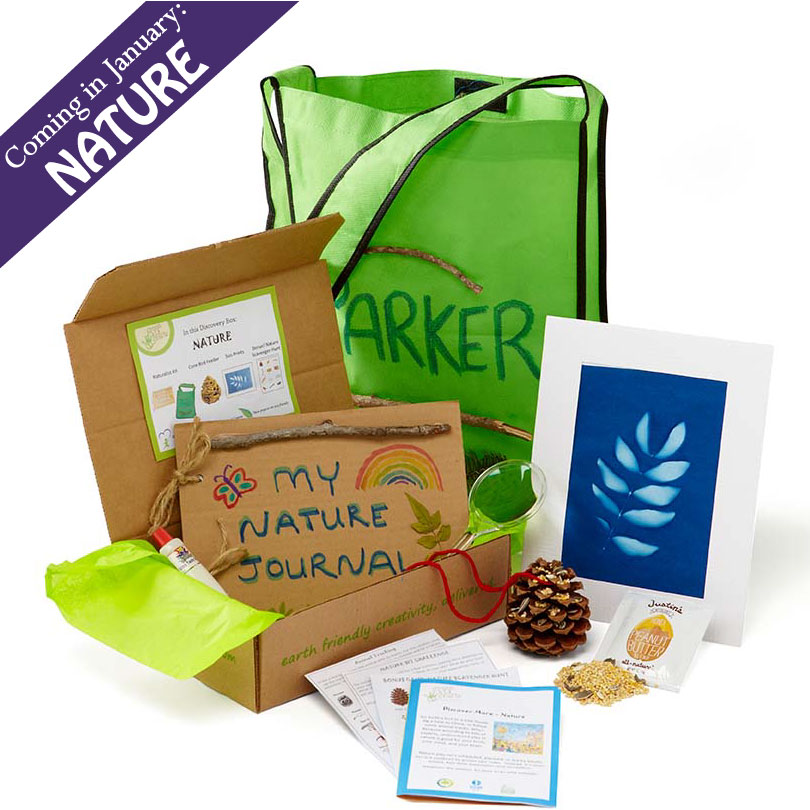 Green Kid Crafts' Nature Discovery Box - coming in January!