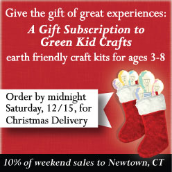 Give the gift of great experiences - order Green Kid Crafts by midnight, 12/15, to get your first box by Christmas.