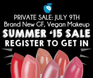 Register for our new gluten free, vegan makeup sale.