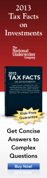 2013 Tax Facts on Investments