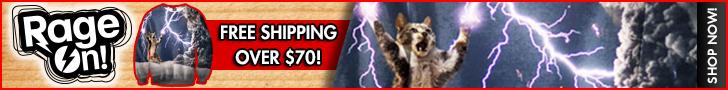 Thundercat All Over Print RageOn Banner Crewneck Sweatshirt