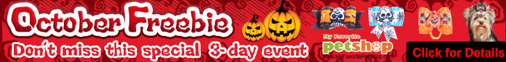 Pet Products! October Freebie! Don't miss this special 3-day event Oct.10th - Oct.12th & Oct.17th - Oct.19th 9:00 PM EST. Come on!