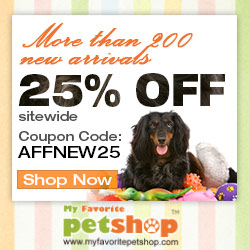 More than 200 New Arrivals! 25% OFF for All Pet Products! Coupon code:AFFNEW25. Ends May 31. Shop Now!