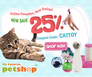 25% Off for Feline Favorites!New Online! Coupon Code:CATTOY. Buy now!