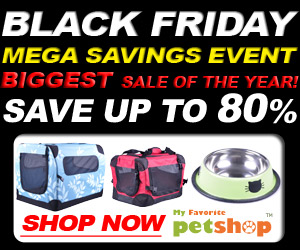 Black Friday pet sale