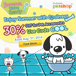 Summer, We're Ready! Enjoy Summer with Coolness. 30% OFF for Pet Accessories with Code 'COOL'. Ends Aug. 31, 2014. Shop now!