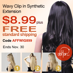 Wavy Clip In Synthetic Extension Sale. Lowest Price Ever, only $8.99 plus free standard shipping. Use code AFFWIG899 at checkout. Offer ends Nov. 30, 2012.
