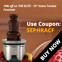 "10% Off on THE ELITE - 19"" Home Fondue Fountain"