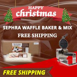 Free Shipping - Belgian Waffle Baker & Mix