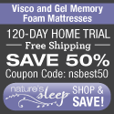 Visco and gel memory foam mattress