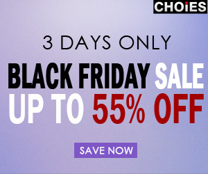 Black Friday sale at Choies, up to 55% off. Free shipping.